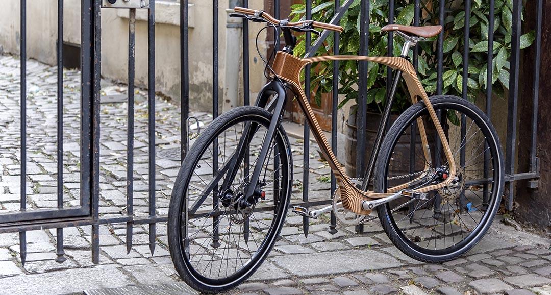 vélo gravel treck cadre bois bicyclette